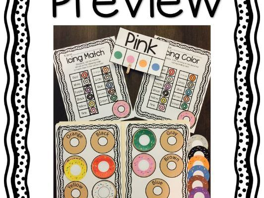 Donut Shop Activities (Color Identification)