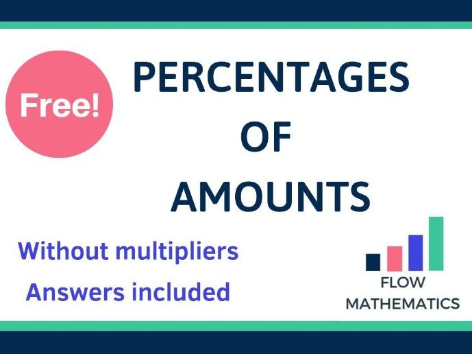 Percentages of amounts (no multipliers)