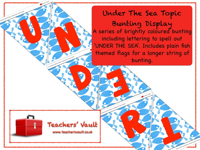 Under The Sea Topic Bunting Display