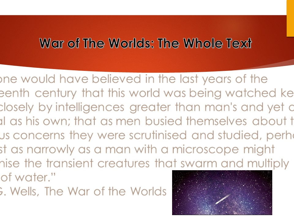 War of The Worlds - The Whole Text