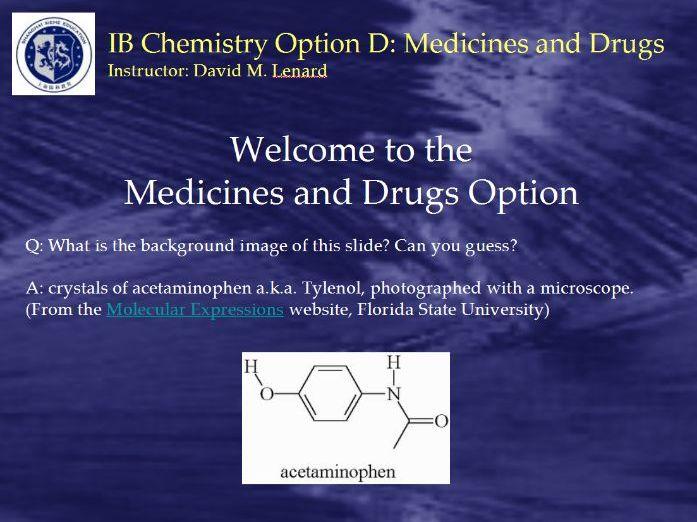 IB Chem Option D Powerpoint