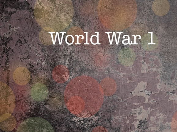 World War One Writing Resources