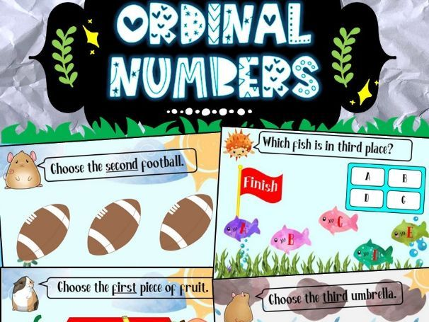Ordinal Numbers *Distance Learning*
