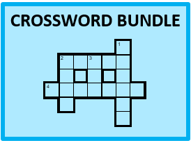 Spanish Vocabulary Crossword Bundle