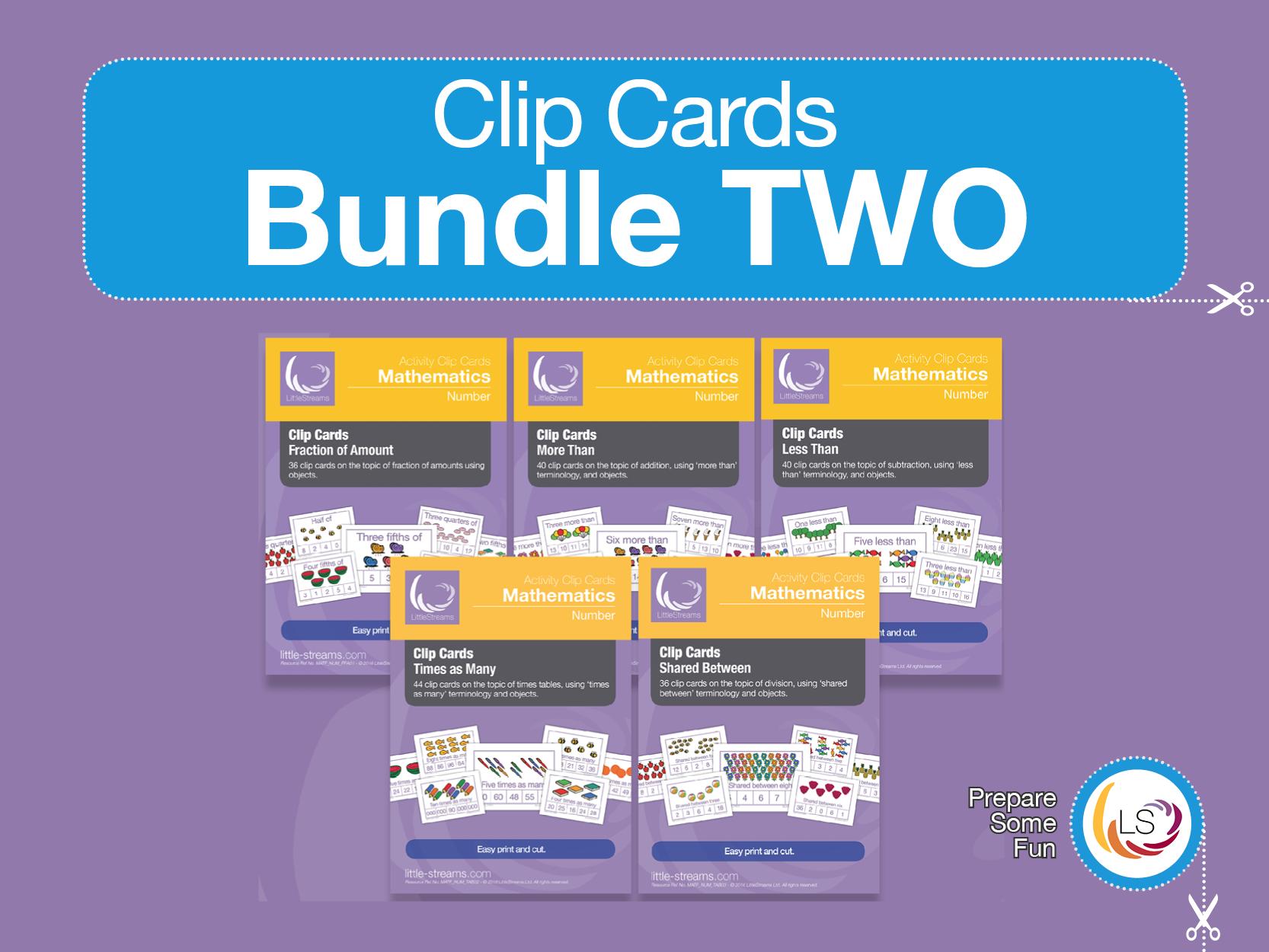 Arithmetic Clip Card | Bundle 2