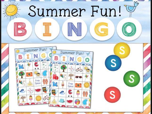 Summer Theme BINGO Game