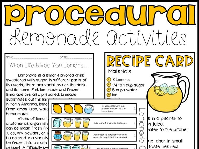 Procedural Text (Lemonade Themed)