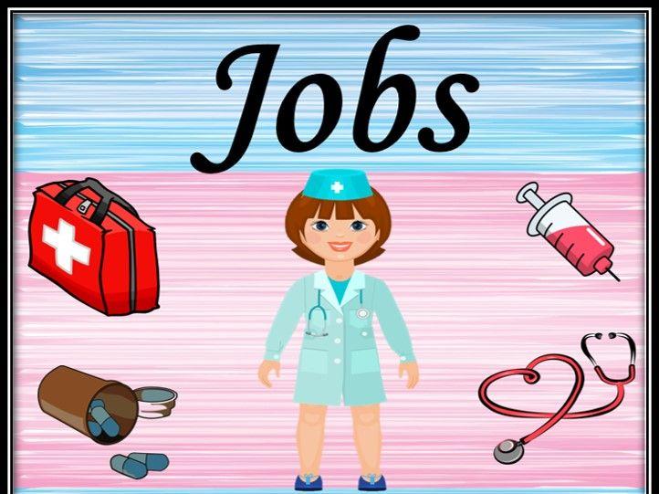 Jobs/Professions. Associative game.