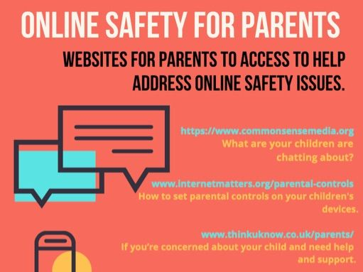 Online Safety Website to support parents.