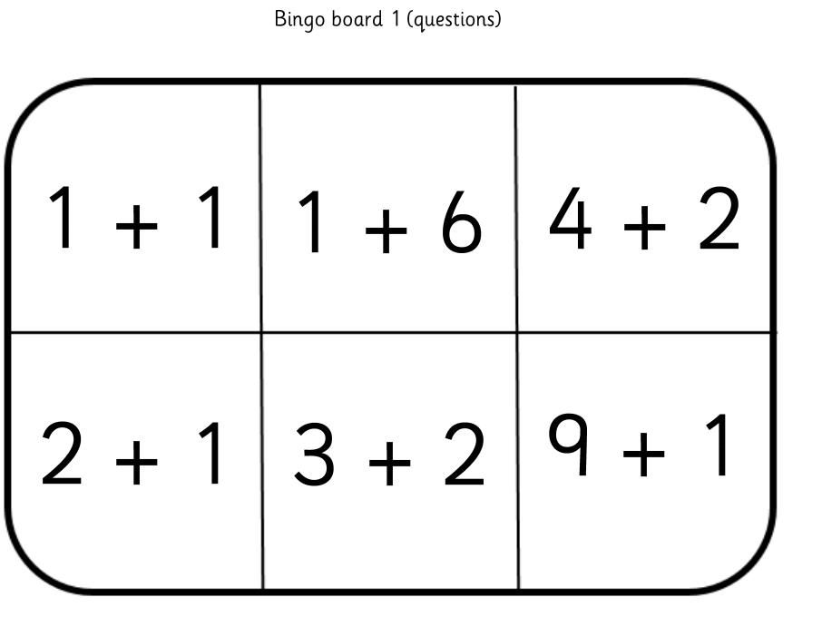 Addition Bingo: Numbers to 10
