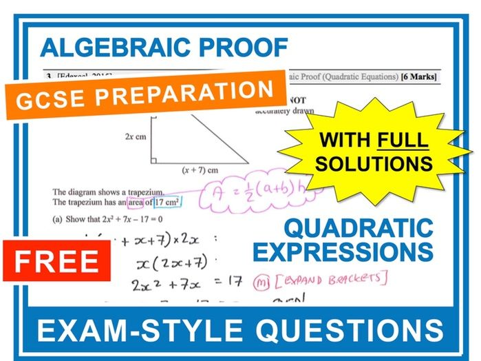 GCSE 9-1 Exam Question Practice (Algebraic Proof)
