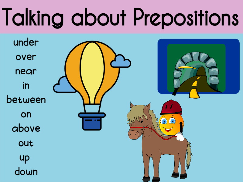 Talking about Prepositions EYFS and KS1