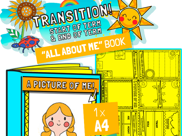 All About Me Transition Mini Book
