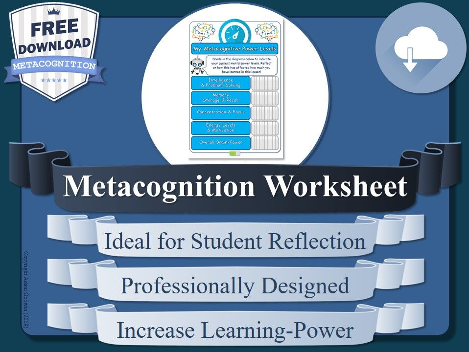Free Metacognition Worksheet