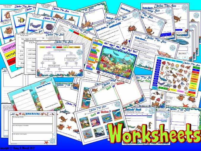 Under The Sea - Worksheets