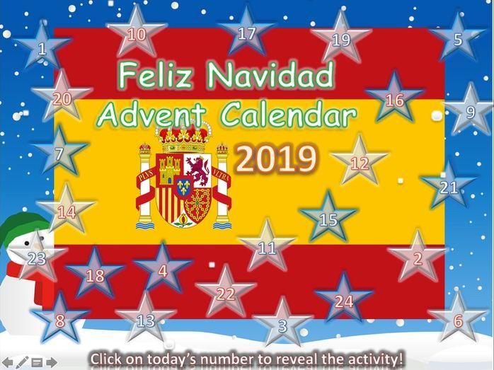 Spanish MFL Christmas Calendar 2019