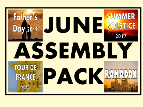 June Assembly Pack - Summer Solstice, Tour de France, Ramadan and Father's Day