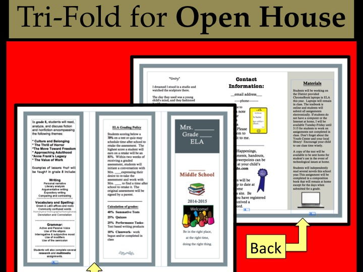 Open House EDITABLE pamphlet