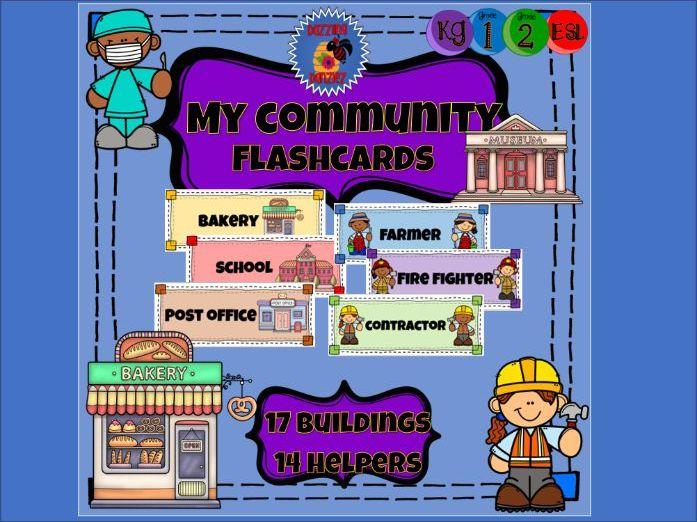 My Community - Vocabulary Flashcards