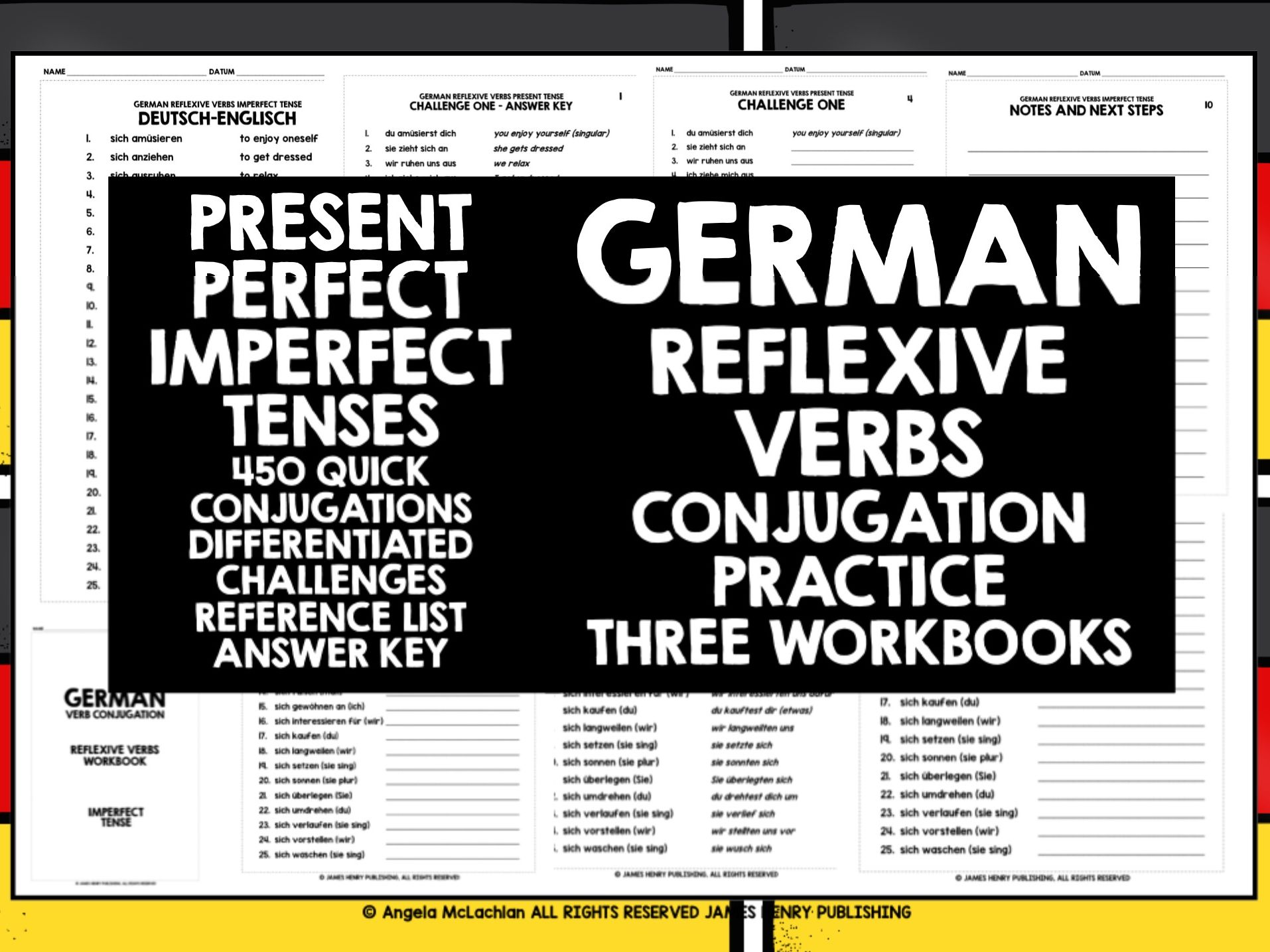 GERMAN REFLEXIVE VERBS 3 TENSES