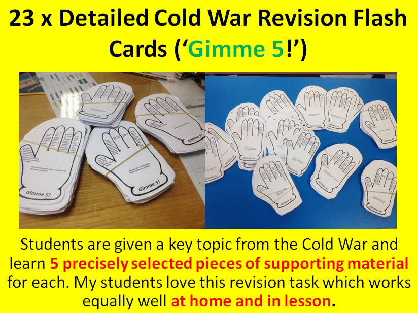 Cold War Revision Flash Cards ('Gimme 5')
