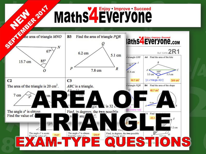 Area of a Triangle (GCSE Questions)