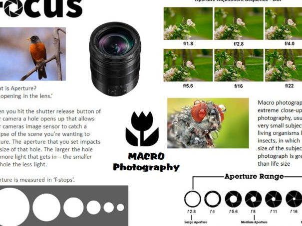 GCSE/A-Level Photography Focus/Aperture Worksheet Introduction