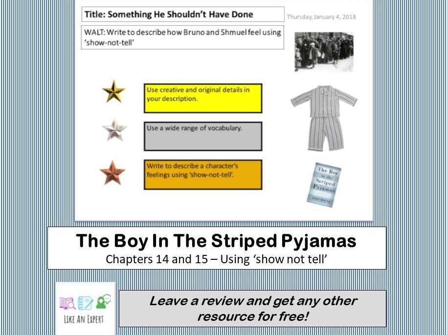 Boy In Striped Pyjamas - Chapters 13, 14 & 15