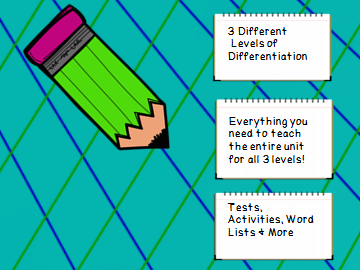 Year 3 Spelling Unit Long A Patterns- 3 Different Levels of Differentiation