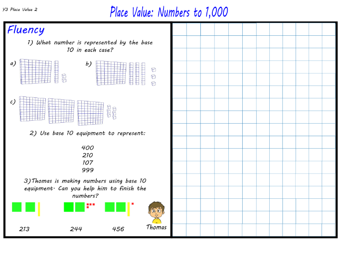 Y3 - Place Value: Numbers to 1,000 - Maths Mastery