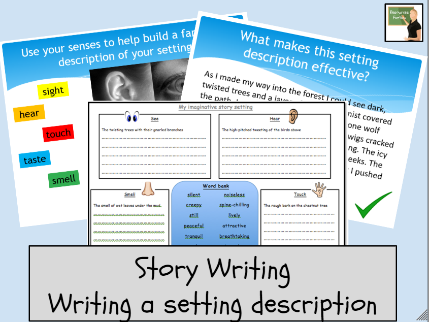 English- Setting description- Story writing