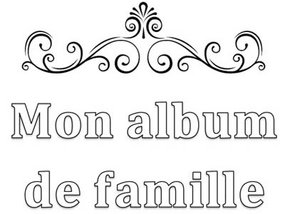 French Personalized Family Album