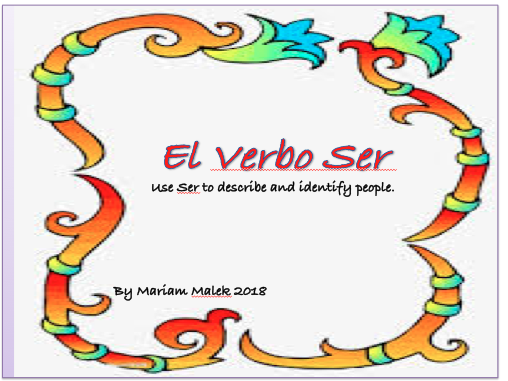 Describing People in Spanish (using Ser)