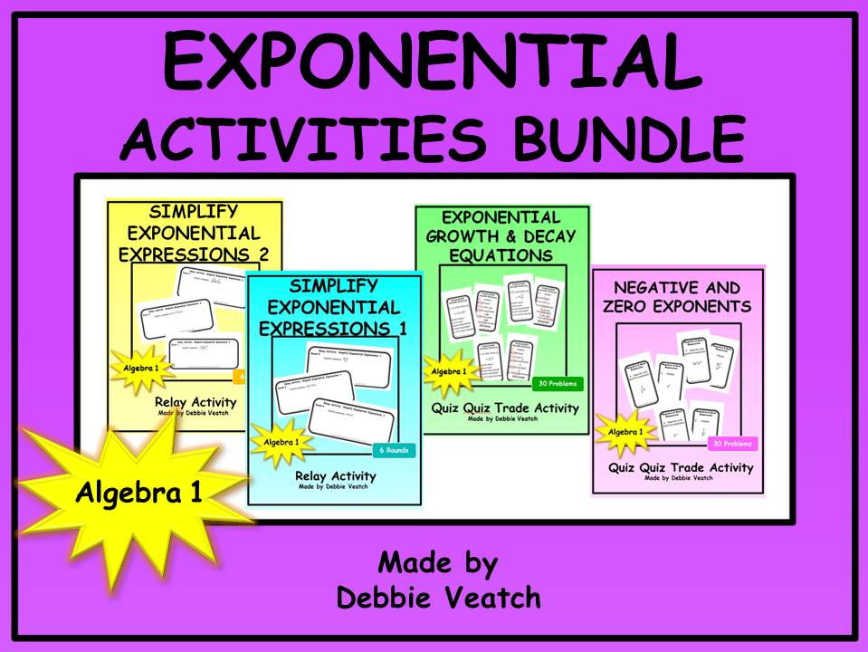 Exponential Activities Bundle