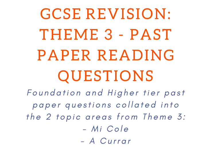 Past Paper Reading Questions Bundle
