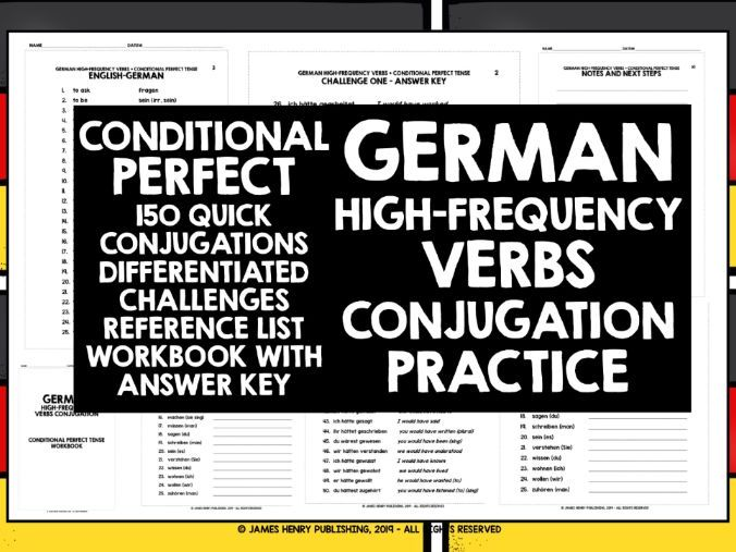 GERMAN HIGH-FREQUENCY VERBS CONJUGATION #8