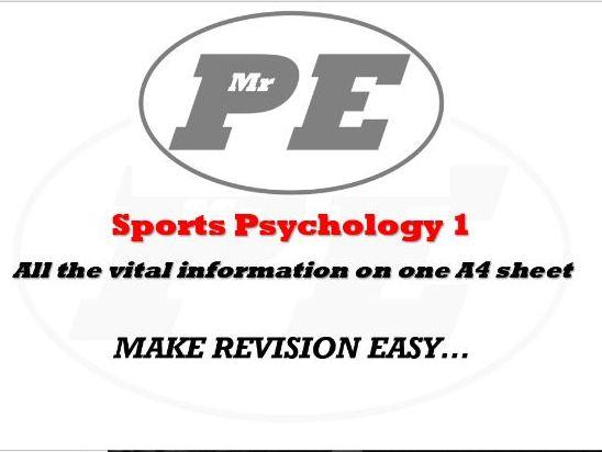 KEY INFO SHEET Sports Psychology 1