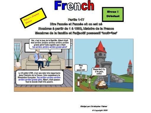 French for Adults: Beginners: Part 17: French history, nos 1-1000, years in French, 'your' in French