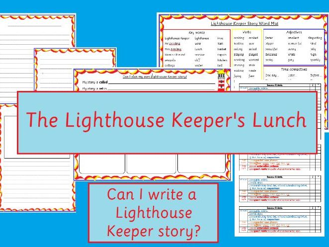 The Lighthouse Keeper's Lunch Story Writing