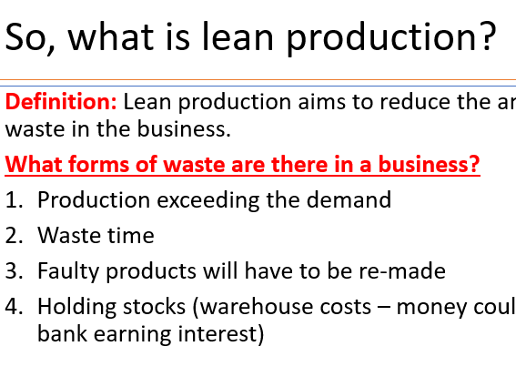 AQA GCSE 9-1 3.3.1 Efficiency in Production Full Lesson