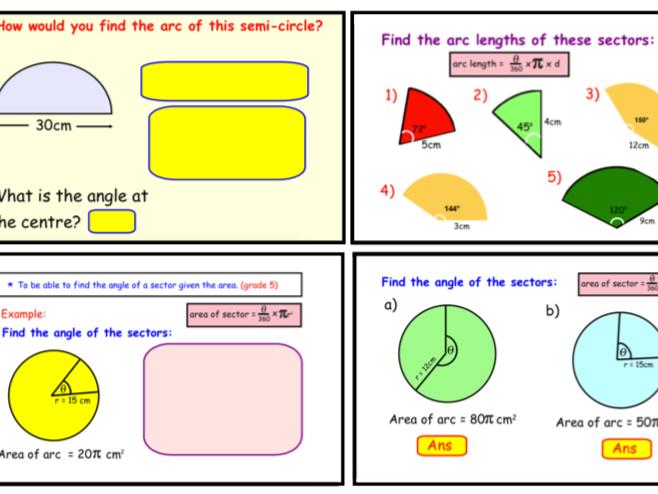 Sectors of Circles (notebook)