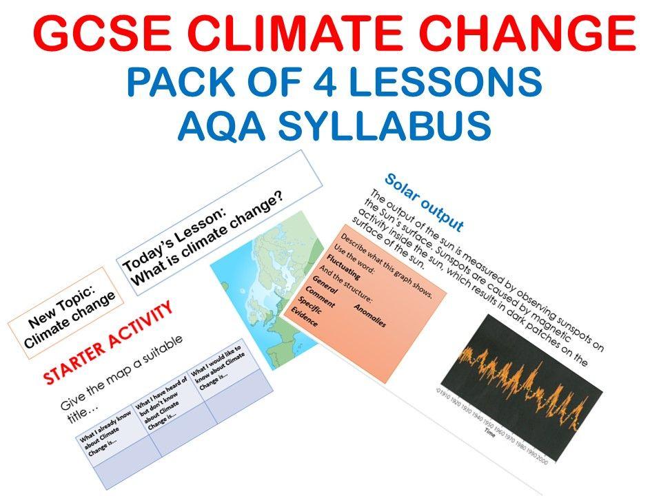 GCSE Climate Change