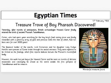 Tutankhamun Newspaper Template