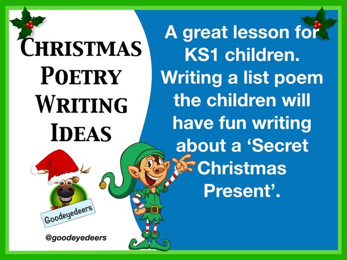 KS1 Christmas Poetry Writing  Ideas