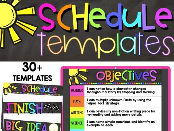 Distance Learning Schedule Templates | Google Classroom | Easy to Use!