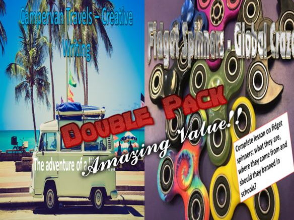 Campervan Travels and Fidget Spinners Double Pack with Starters