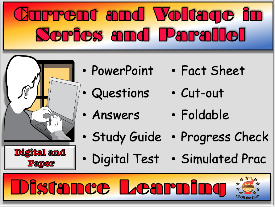 Current and Voltage in Series and Parallel Circuits - Distance Learning and Homeschool  for KS3