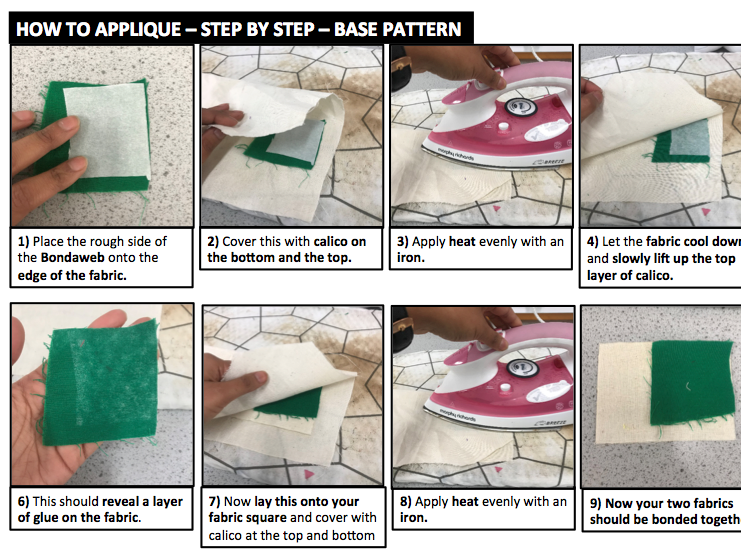 Aztec Applique - Step by Step