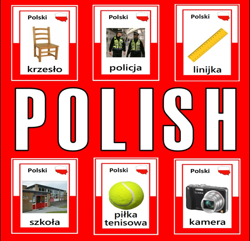 POLISH AND ENGLISH FLASHCARDS LANGUAGE RESOURCES  DISPLAY KEY STAGE 1-4 POLAND ESL GEOGRAPHY