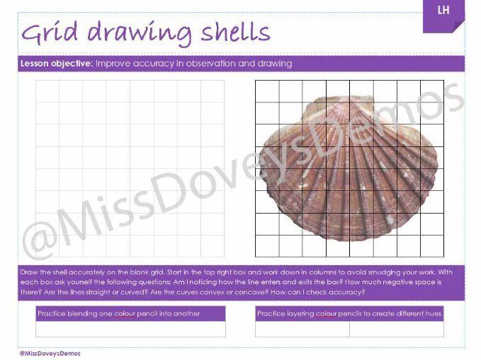 Grid worksheet cover worksheet shells KS3